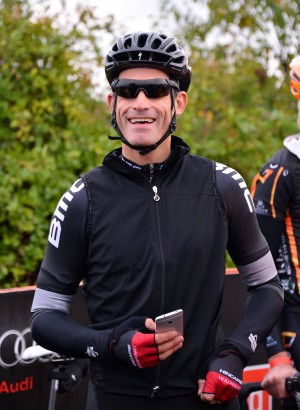 WASHINGTON, DC - OCTOBER 19:  Cyclist George Hincapie attends the start of the 2013 Audi Best Buddies Challenge: Washington, DC on October 19, 2013 at Poolesville Golf Course in Poolesville, Maryland.  (Photo by Stephen Lovekin/Getty Imagesfor Best Buddies)