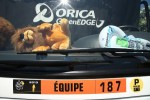 AIX-EN-PROVENCE, FRANCE - JULY 4: The Credit Lyonnais Lion in the team bus of Orica GreenEdge during Stage Six during the Tour de France 2013, the 100th Tour de France, a 176,5KM road stage between Aix-en-Provence and Montpellier on July 4, 2013 in Aix-en-Provence, France. (Photo by John Berry/Getty Images)