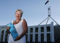 Maggie Beer accepts her Senior Australian of the Year award at  Parliament House on January 25, 2010 in Canberra, Australia.  (Photo by Stefan Postles/Getty Images)