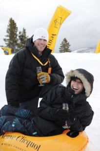 VAIL, CO - FEBRUARY 24: Ryan Sutter and Trista Sutter attend Veuve Clicquot Celebrates Clicquot In The Snow Tube a Thon Benefitting Habitat For Humanity on February 24, 2011 in Vail, Colorado. (Photo by Riccardo S. Savi/WireImage)