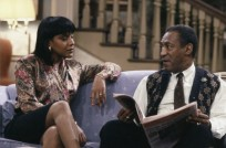 "THE COSBY SHOW -- ""Clair's Liberation"" Episode 12 -- Aired 12/06/1990 -- Pictured: (l-r) Phylicia Rashad as Clair Hanks Huxtable, Bill Cosby as Dr. Heathcliff 'Cliff' Huxtable  (Photo by Al Levine/NBC/NBCU Photo Bank via Getty Images)"