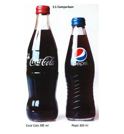 pepsi cola vs cocacola the battle of bottles Both pepsi and coca cola are huge corporations with a lot of other brand names   on looking at coca cola's history of cans, their recognisable type based logo is   [1]  .