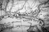 Map Photography: Lausanne City on a Road Map