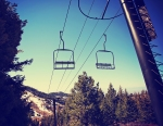 A retro chairlift similar to the one I experienced.