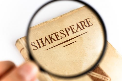 A Book by Shakespeare under a Magnifying Glass