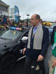 Prince Albert II, reigning monarch of Monaco, mixing it with the plebs