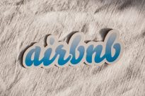 KYIV, UKRAINE - JAN 4: AirBnb service logo sign on white background on January 4, 2016. Illustrative editorial picture of logo AirBnb online platform for accommodation worldwide founded in 2008